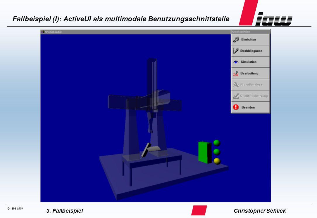 Fallbeispiel (II): ActiveUI als multimodale Benutzungsschnittstelle