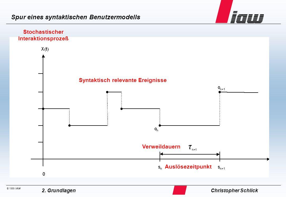 ... Stochastischer Modellansatz für syntaktisch relevante Ereignisse