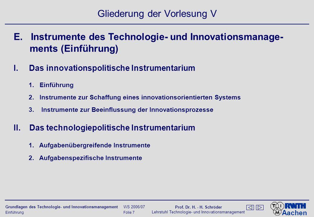 Lehrstuhl Technologie- und Innovationsmanagement