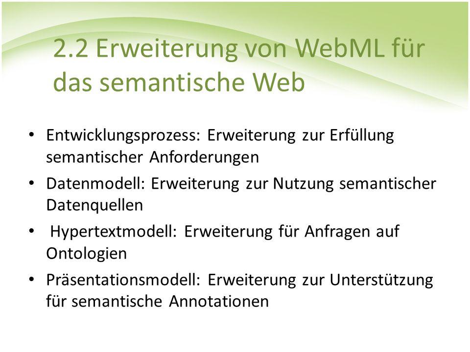 2.2 Erweiterung von WebML für das semantische Web