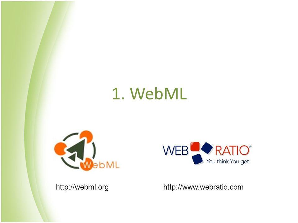 1. WebML http://webml.org http://www.webratio.com