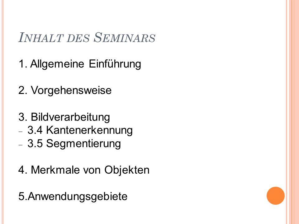 Inhalt des Seminars 1. Allgemeine Einführung 2. Vorgehensweise