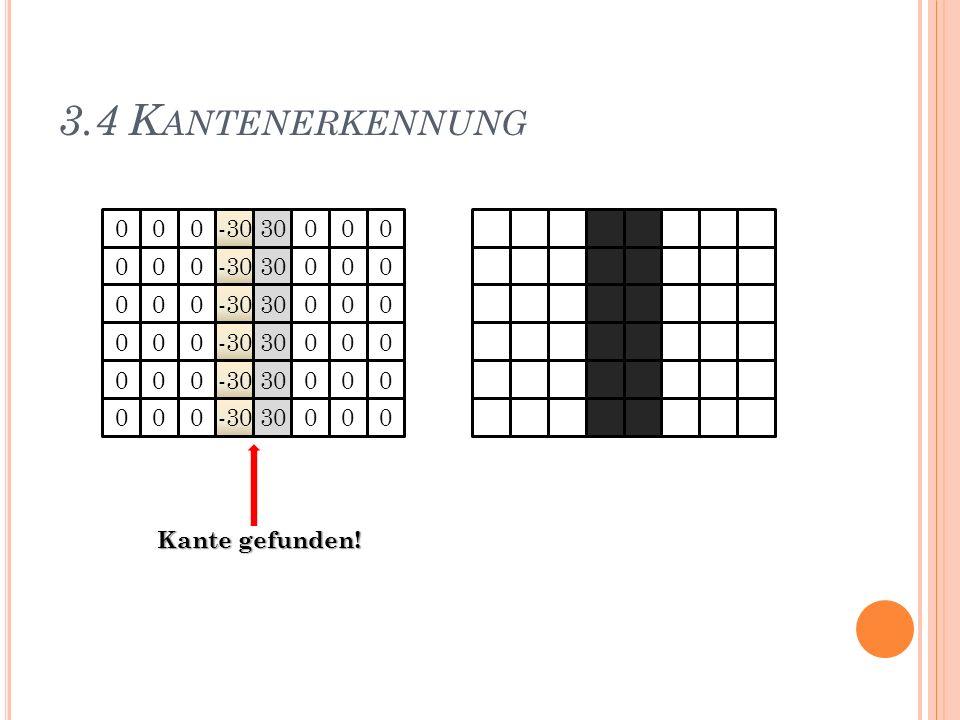 3.4 Kantenerkennung -30 30 -30 30 -30 30 -30 30 -30 30 -30 30