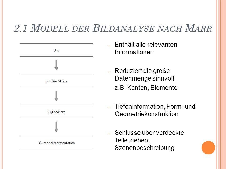 2.1 Modell der Bildanalyse nach Marr