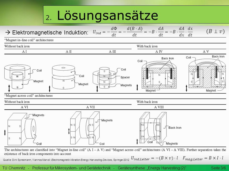 2. Lösungsansätze (𝐵⊥𝑣)  Elektromagnetische Induktion: