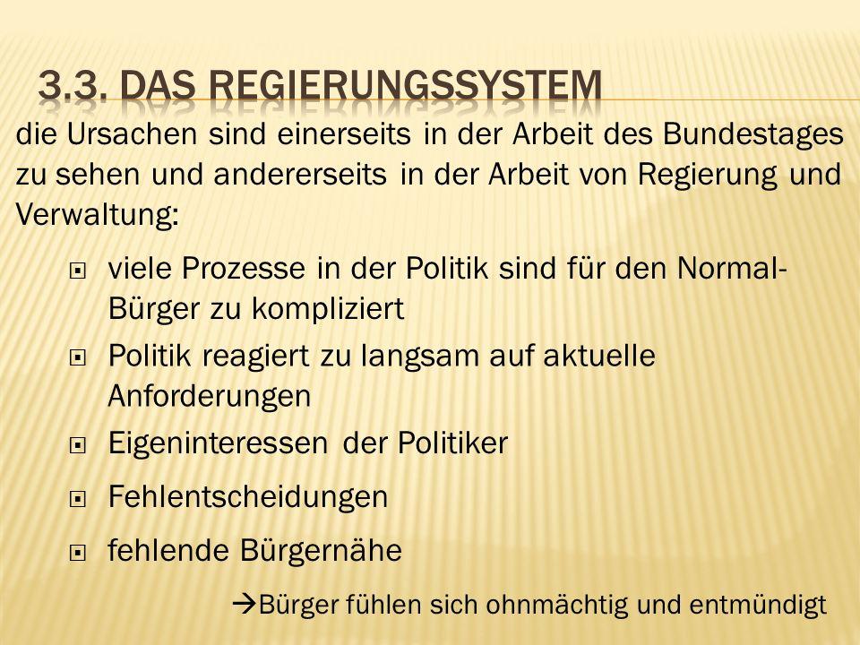 3.3. Das Regierungssystem