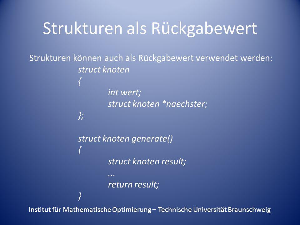 Strukturen als Rückgabewert