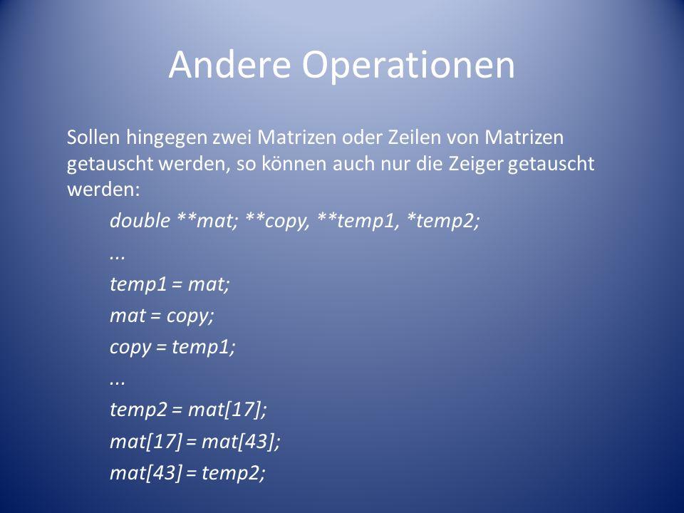 Andere Operationen