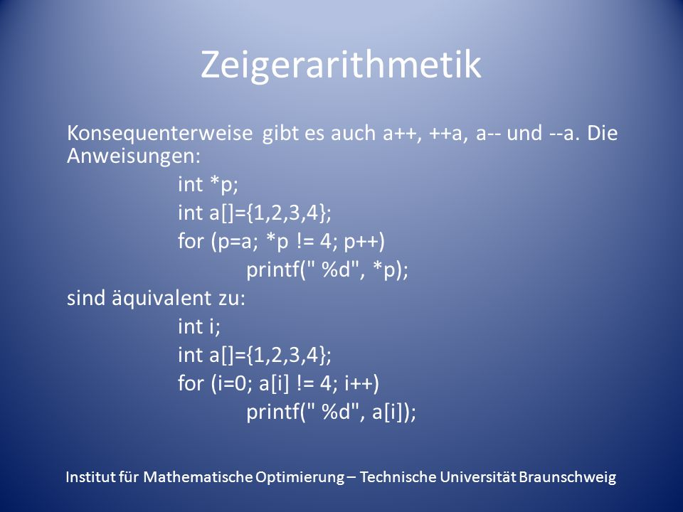 Zeigerarithmetik