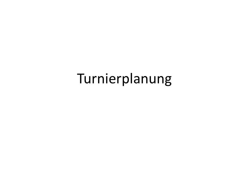 Turnierplanung