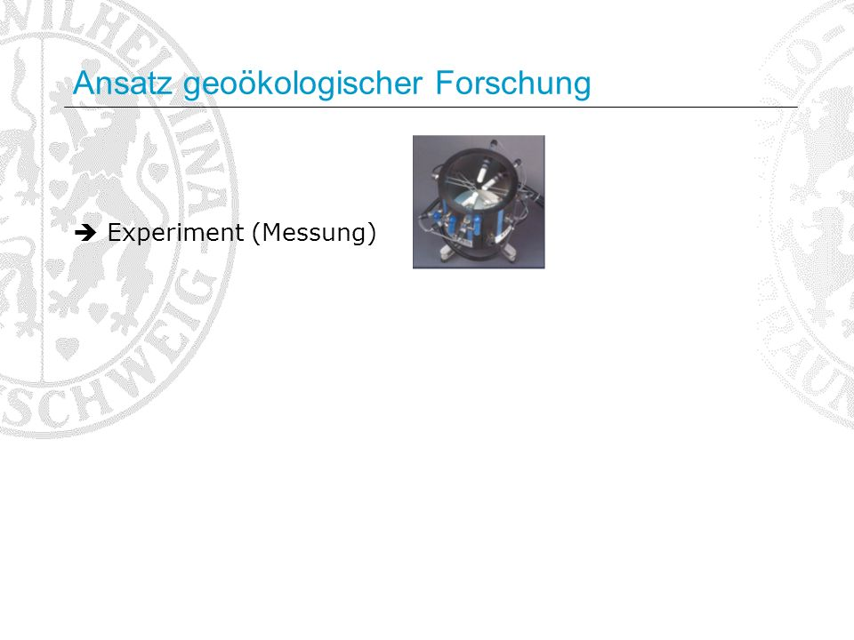 Ansatz geoökologischer Forschung