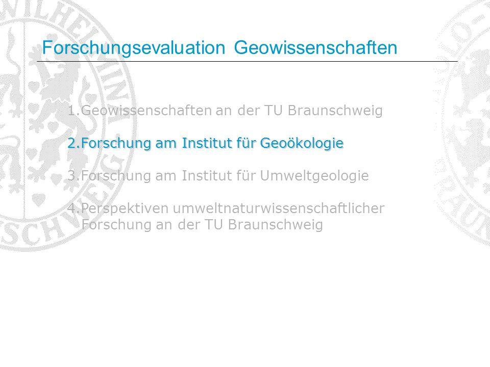 Forschungsevaluation Geowissenschaften