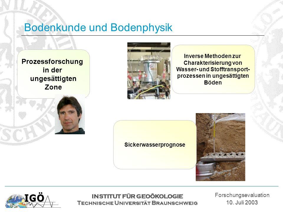 Bodenkunde und Bodenphysik