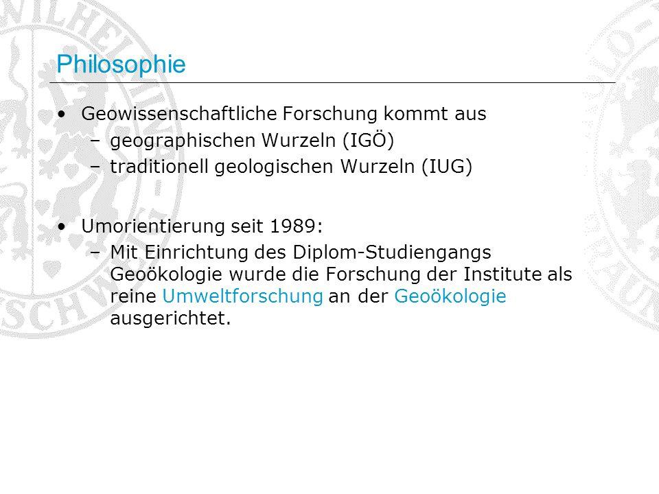 Philosophie Geowissenschaftliche Forschung kommt aus
