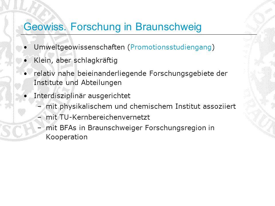 Geowiss. Forschung in Braunschweig
