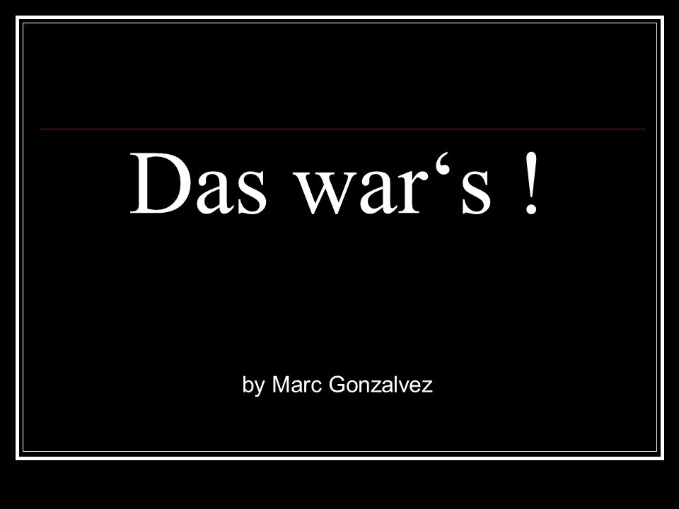 Das war's ! Projektwoche 2010 by Marc Gonzalvez