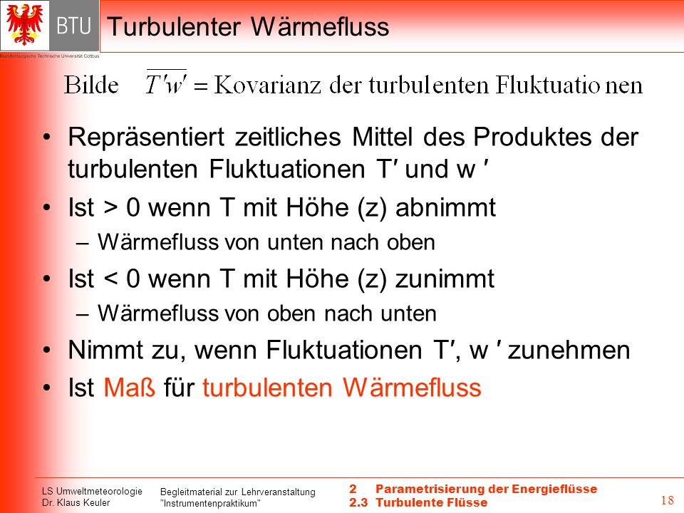 Turbulenter Wärmefluss