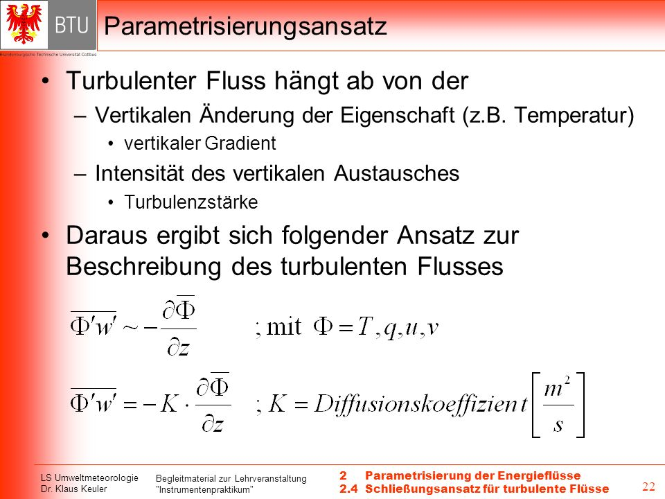 Parametrisierungsansatz