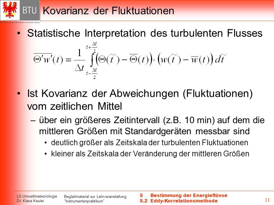 Kovarianz der Fluktuationen