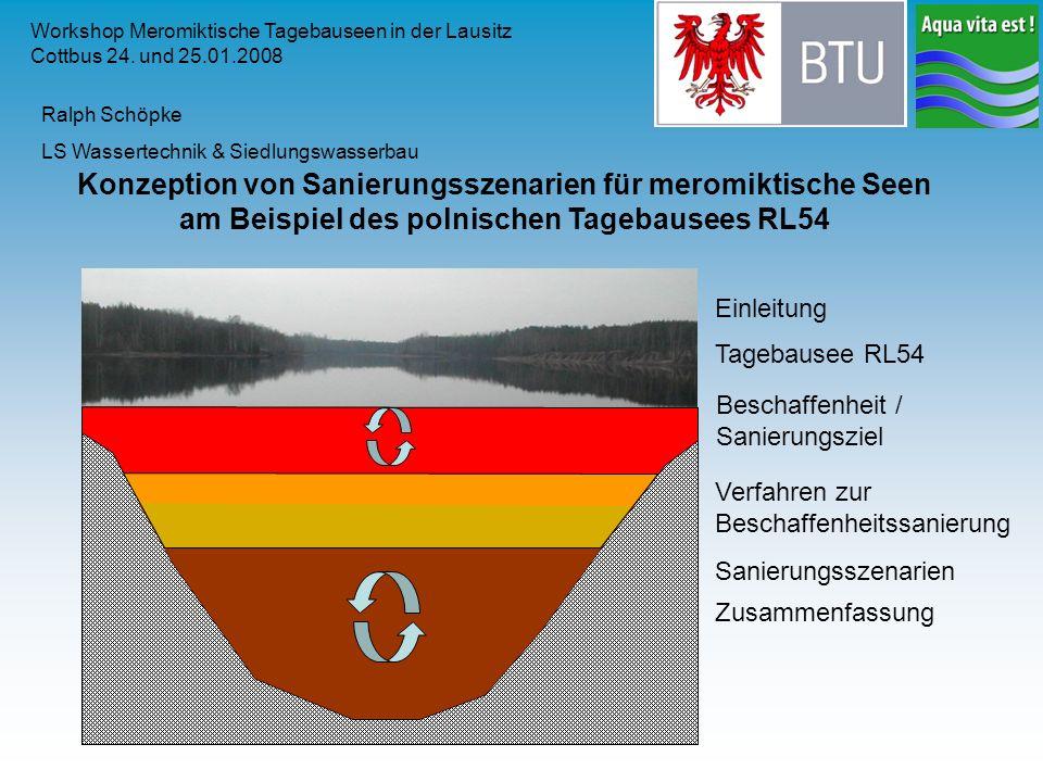 Workshop Meromiktische Tagebauseen in der Lausitz Cottbus 24. und 25