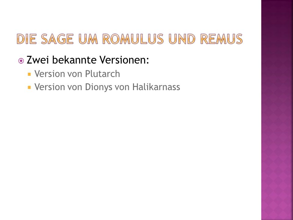 Die Sage um Romulus und Remus