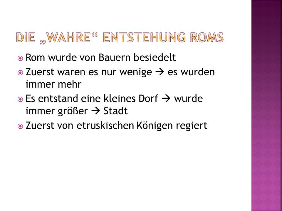 """Die """"wahre Entstehung Roms"""