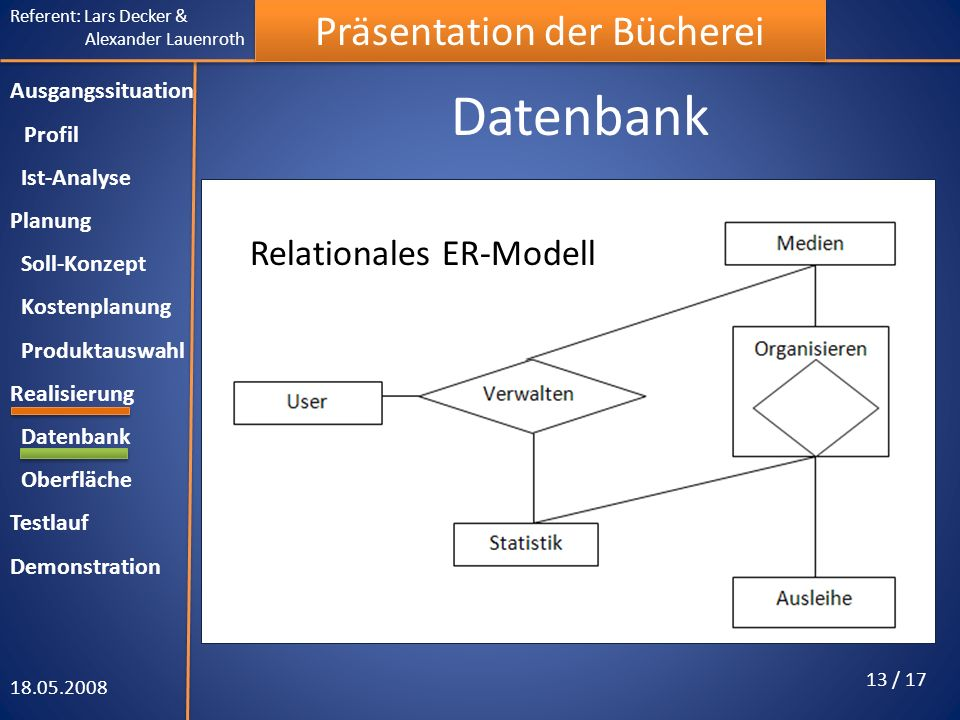 Datenbank Relationales ER-Modell