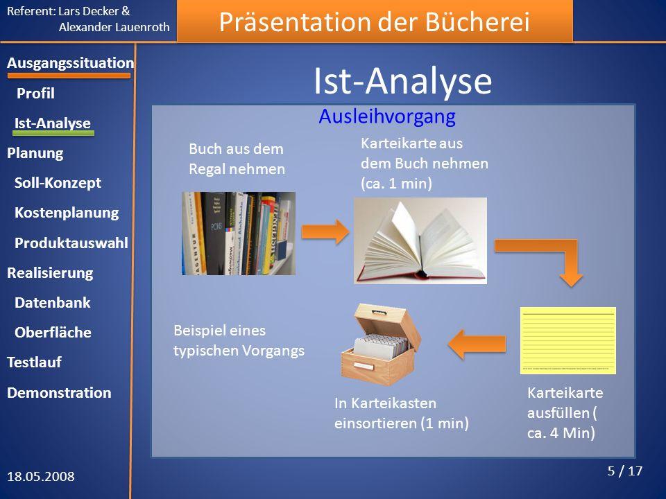 Ist-Analyse Ausleihvorgang