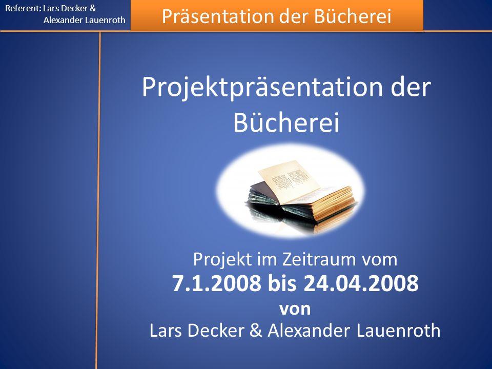Projektpräsentation der Bücherei