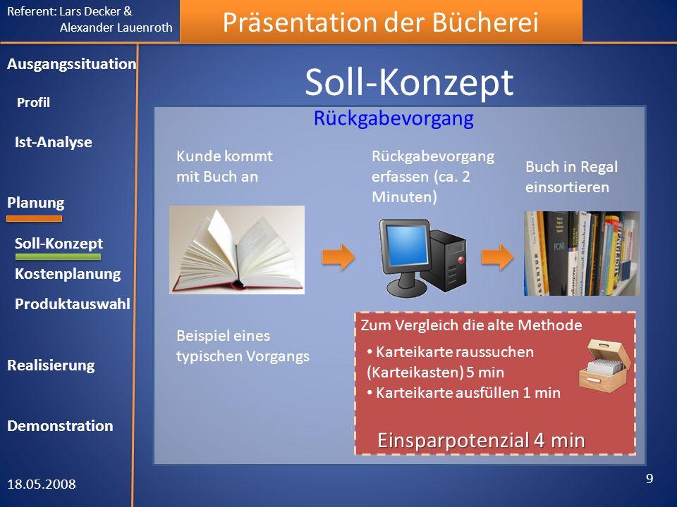 Soll-Konzept Rückgabevorgang Einsparpotenzial 4 min
