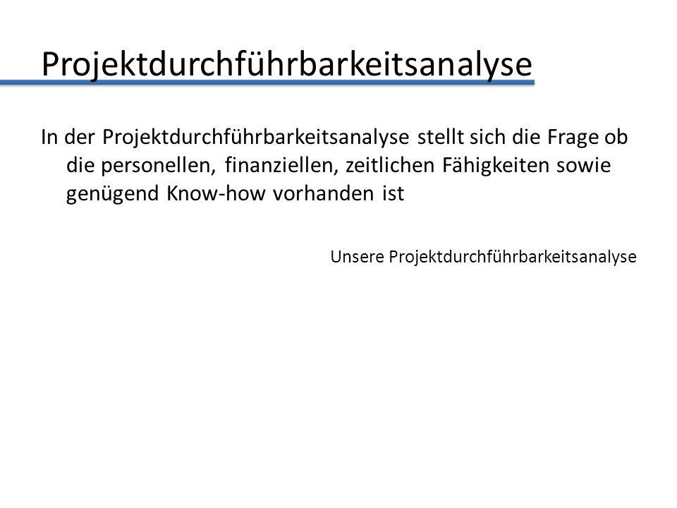 Projektdurchführbarkeitsanalyse
