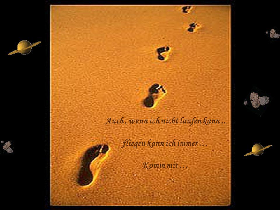 Auch , wenn ich nicht laufen kann .. fliegen kann ich immer …