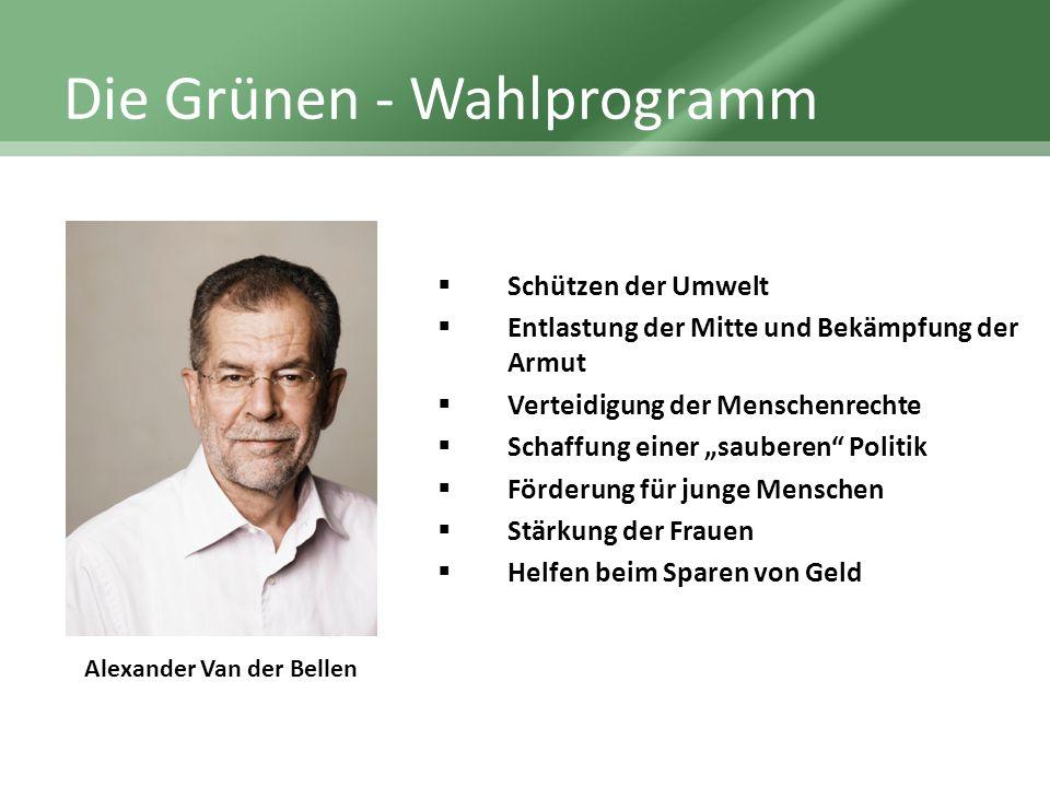 Die Grünen - Wahlprogramm