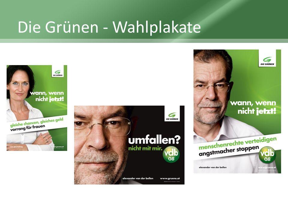 Die Grünen - Wahlplakate
