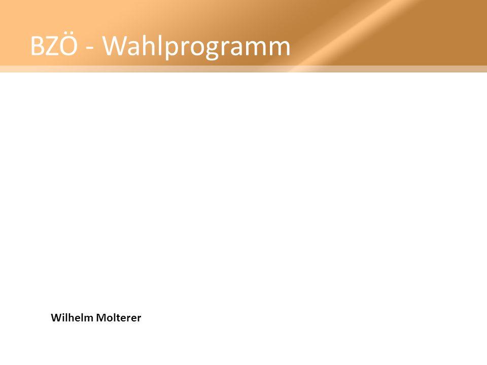 BZÖ - Wahlprogramm Wilhelm Molterer