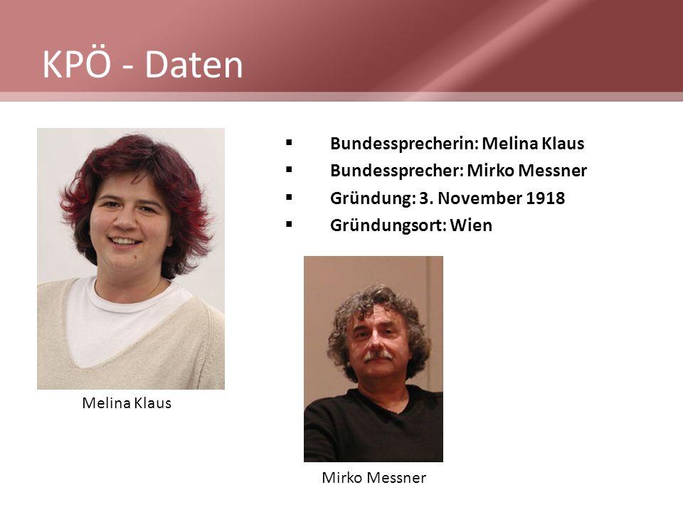 KPÖ - Daten Bundessprecherin: Melina Klaus