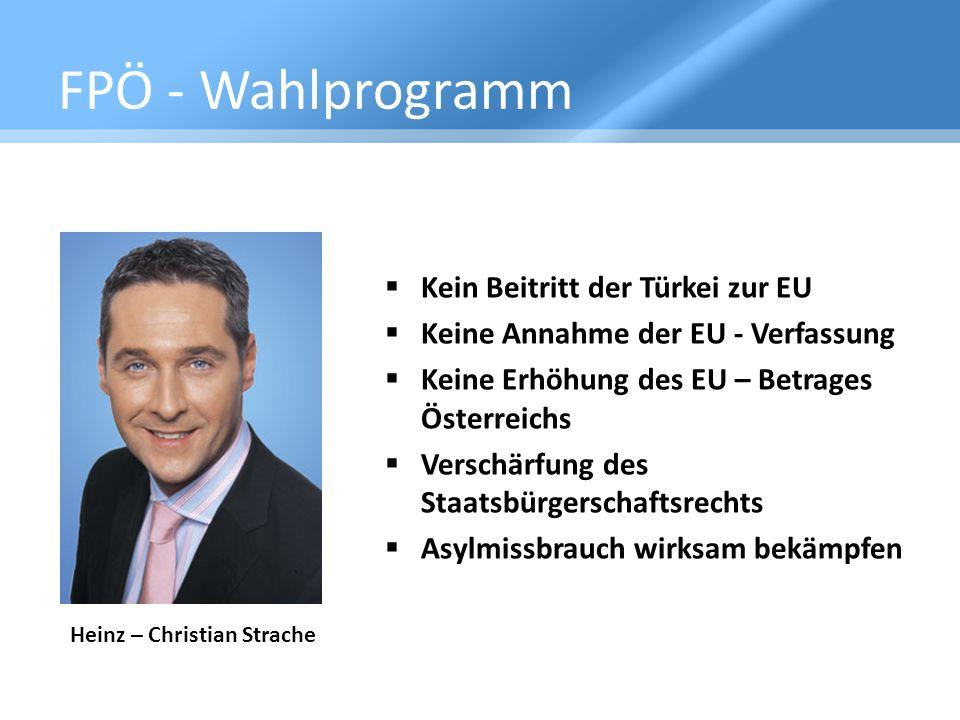 FPÖ - Wahlprogramm Kein Beitritt der Türkei zur EU