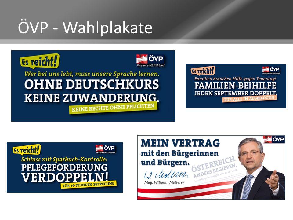 ÖVP - Wahlplakate
