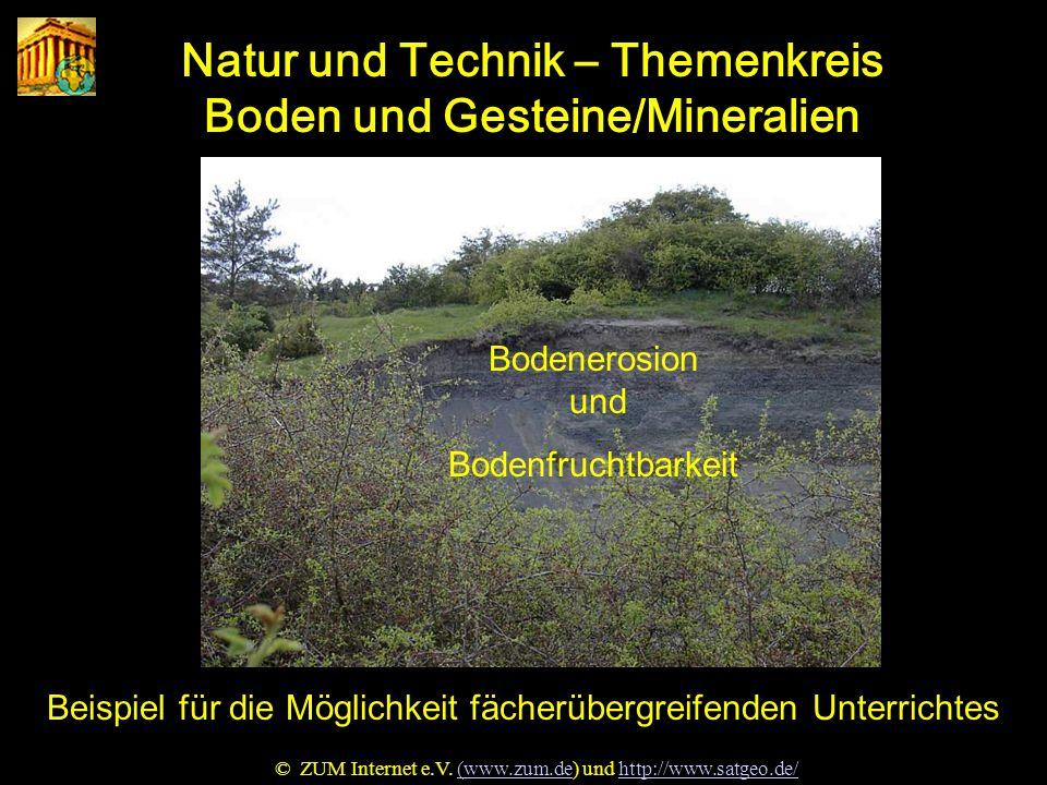 Natur und Technik – Themenkreis Boden und Gesteine/Mineralien
