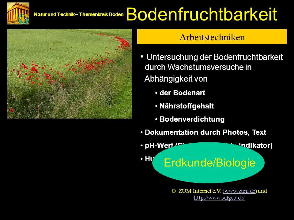 Bodenfruchtbarkeit Bodenfruchtbarkeit Erdkunde/Biologie