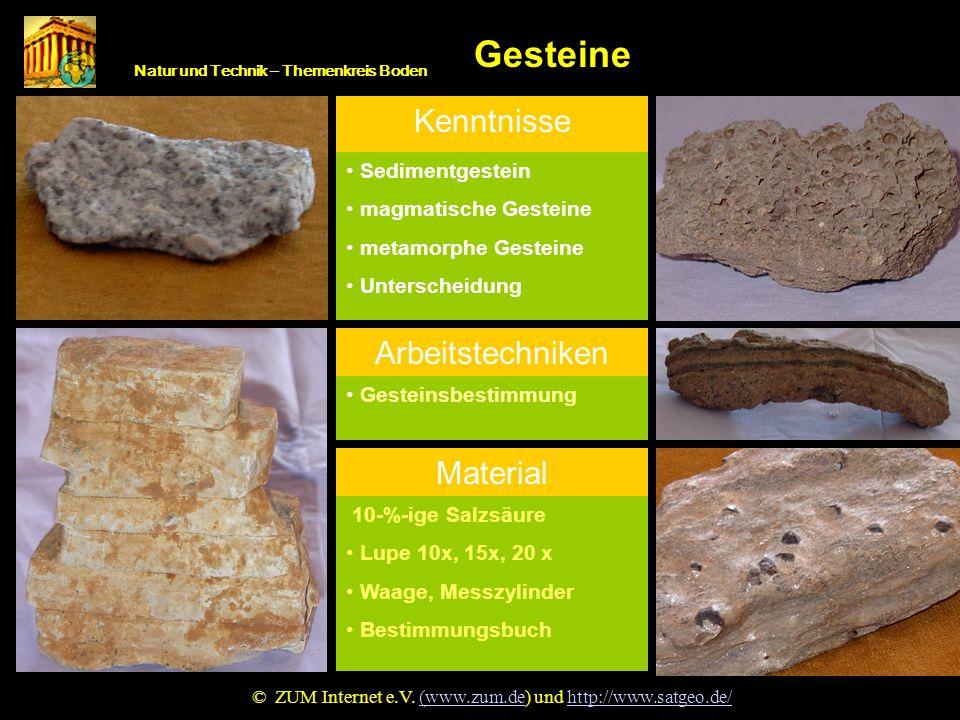 Gestein Gesteine Kenntnisse Arbeitstechniken Material Sedimentgestein