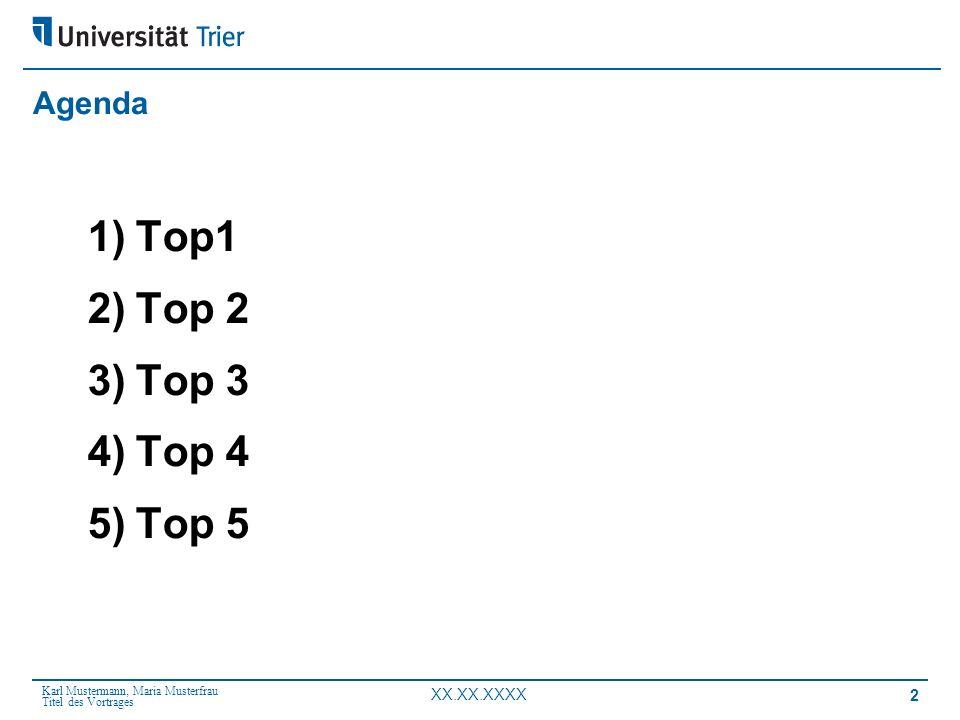 Agenda Top1 Top 2 Top 3 Top 4 Top 5
