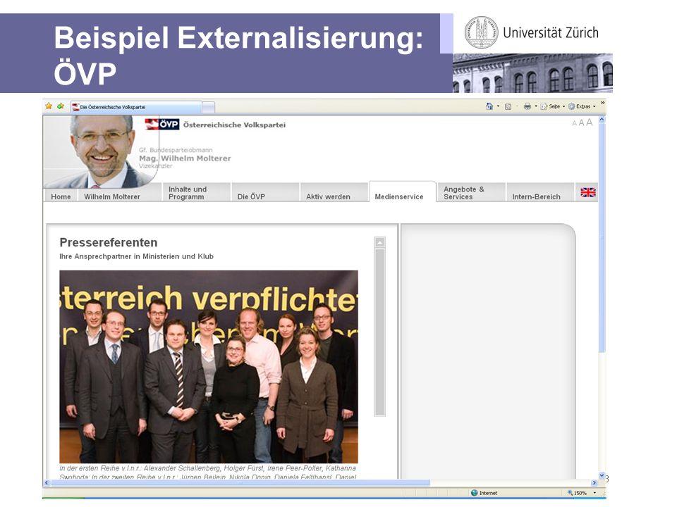 Beispiel Externalisierung: ÖVP