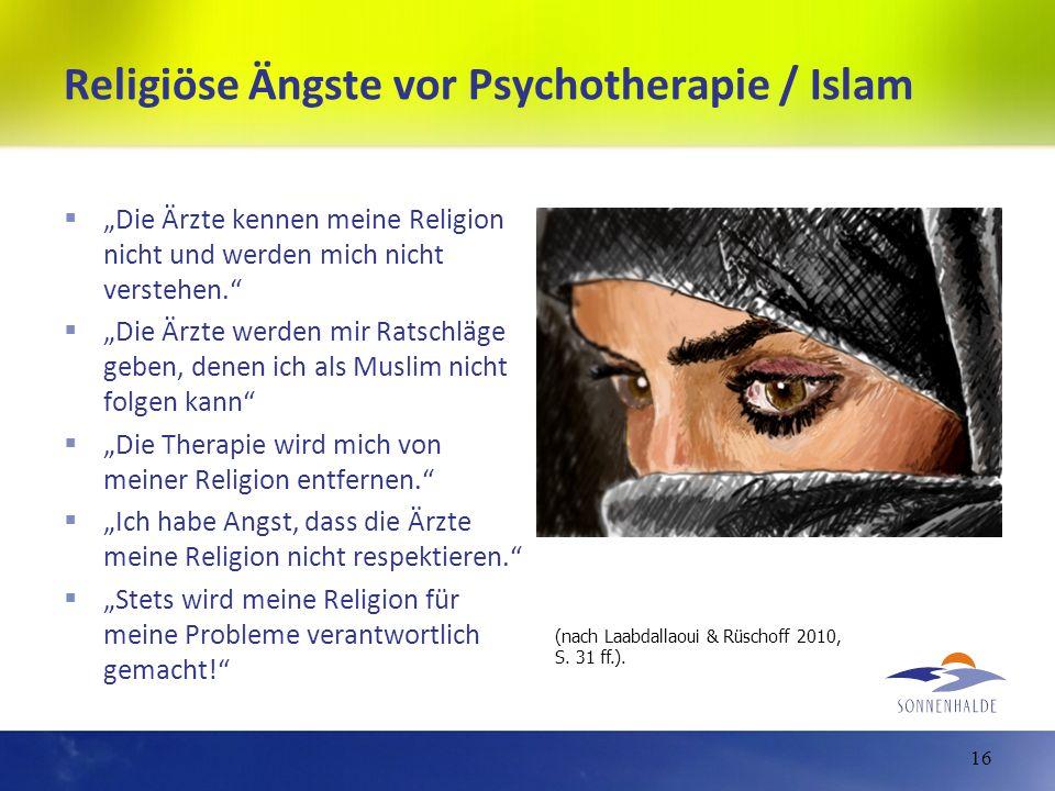 Religiöse Ängste vor Psychotherapie / Islam