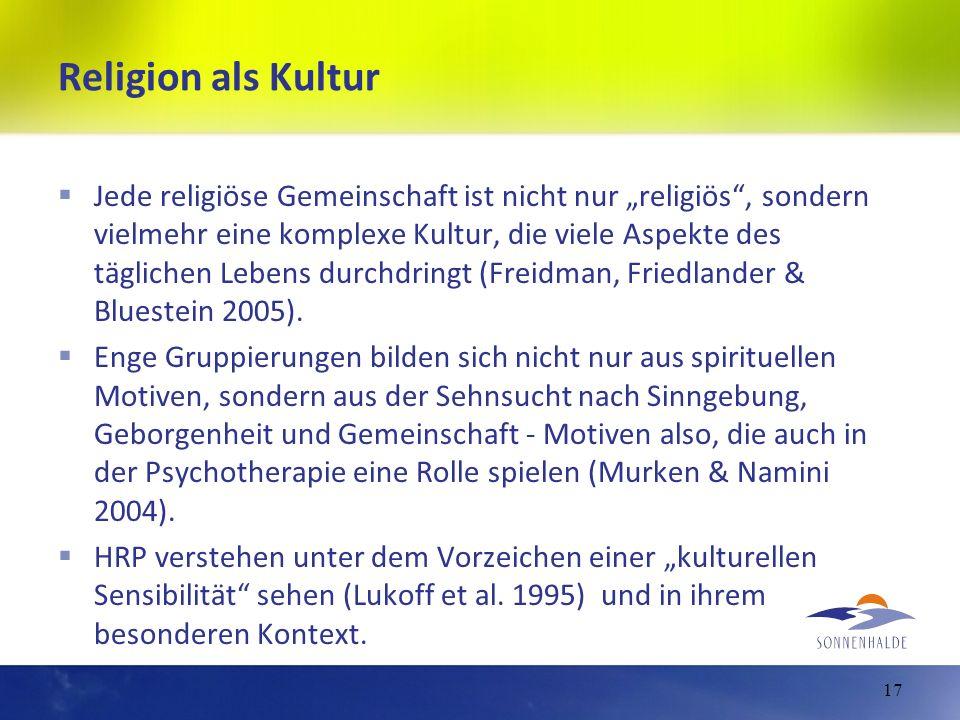 Religion als Kultur