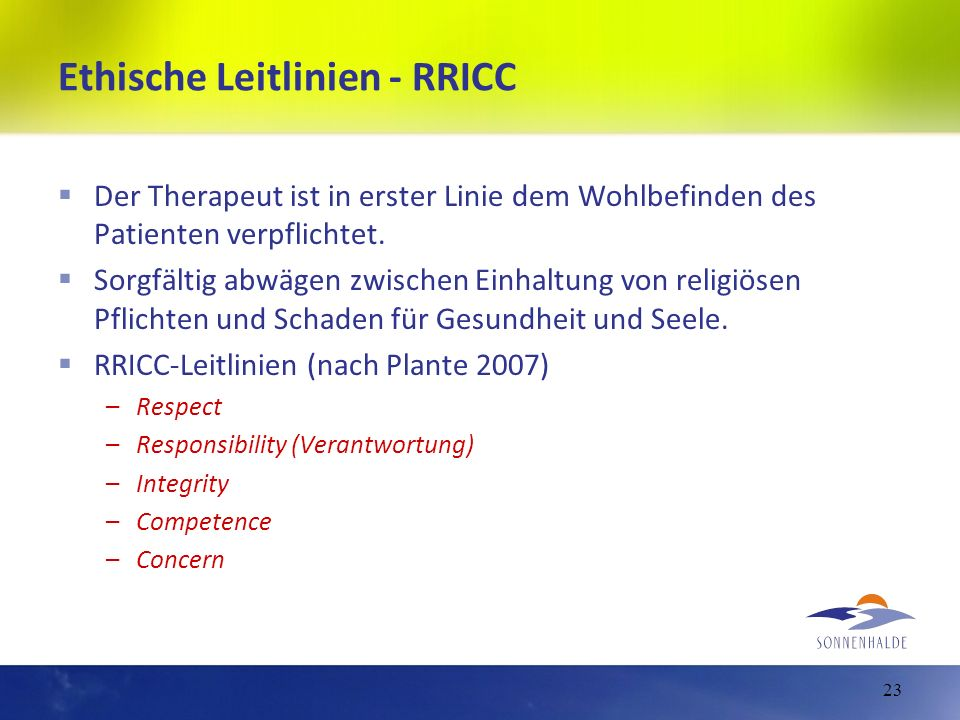 Ethische Leitlinien - RRICC