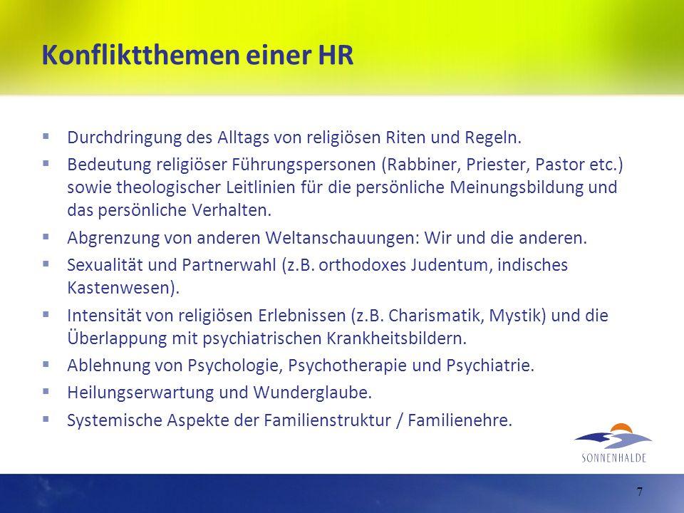 Konfliktthemen einer HR