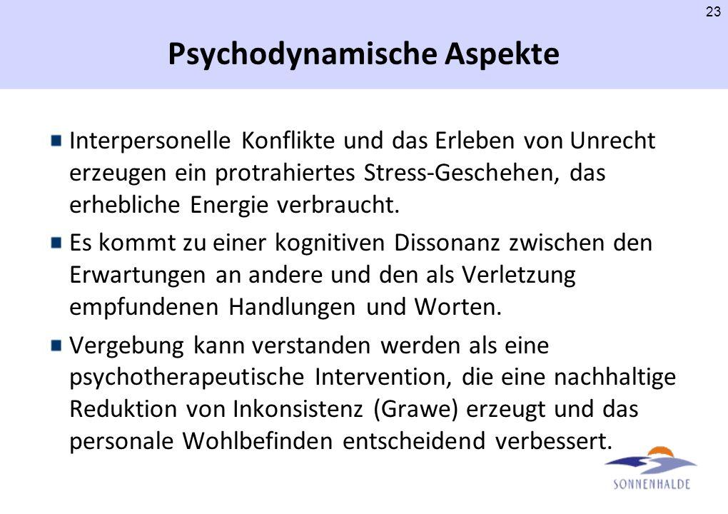 Psychodynamische Aspekte