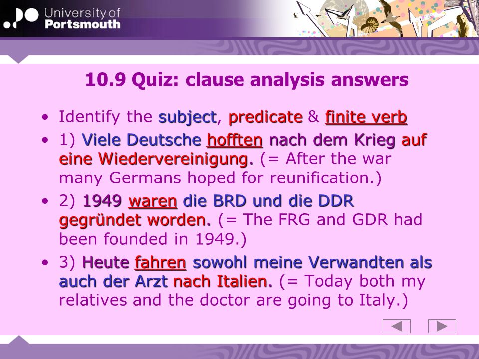 10.9 Quiz: clause analysis answers