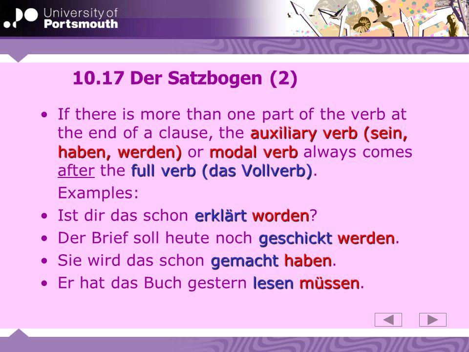 10.17 Der Satzbogen (2)